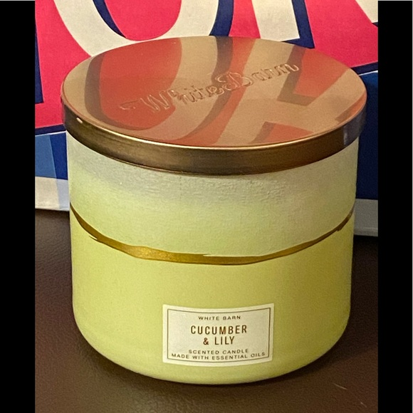 B&BW Cucumber & Lily Three Wick Scented Candle